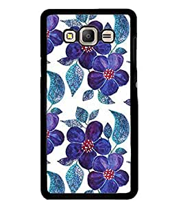 Printvisa Blue Floral Pattern Back Case Cover for Samsung Galaxy On7::Samsung Galaxy On7 G600FY
