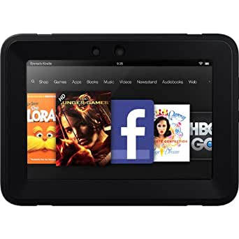 "OtterBox Defender Series Protective Case for Kindle Fire HD 7"" (Previous Generation), Black (with built-in screen protection)"
