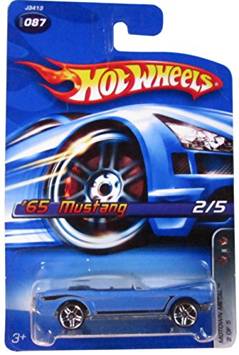 2006 Hot Wheels Motown Metal '65 Mustang Blue #2006-087