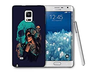 Snoogg Day Of The Dead Printed Protective Phone Back Case Cover For Samsung Galaxy NOTE EDGE
