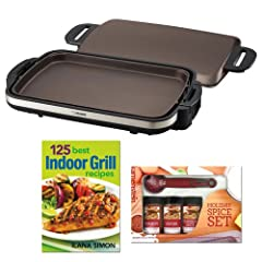 Zojirushi EA-DCC10 Gourmet Sizzler Electric Griddle with 125 Best Indoor Grill Recipes and... by Zojirushi