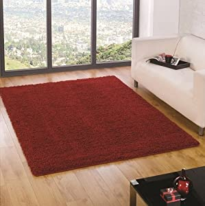 Flair Rugs Nordic Cariboo Shaggy Rug, Red, 160 x 230 Cm from Flair Rugs