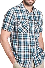 North Coast Pure Cotton Double Face Checked Shirt [T25-4295N-S]
