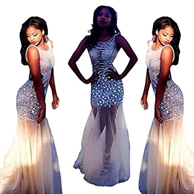 MRYS Luxury Beaded African Prom Mermaid Evening Dress Gown