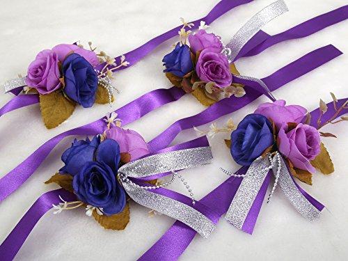 Elegant Corsage Wrist Flower With Wristband For Wedding