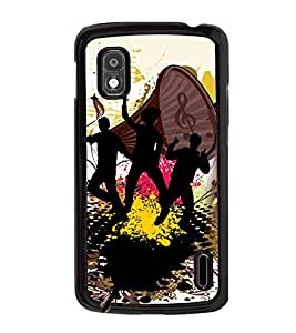 Fuson 2D Printed Music Designer back case cover for LG Nexus 4 - D4168