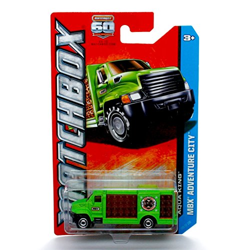 AQUA KING (Green) * MBX ADVENTURE CITY * 60th Anniversary Matchbox 2013 Basic Die-Cast Vehicle (#105 of 120) - 1