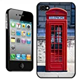 Fancy A Snuggle 'The Original London Phone Box' Clip On Back Cover Hard Case for Apple iPhone 4/4S