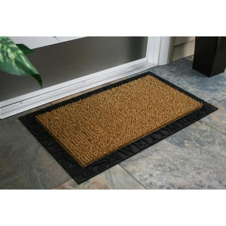 AstroTurf Scraper Door Mat, Acorn and Oak Leaf Welcome with Rubber Border, 18