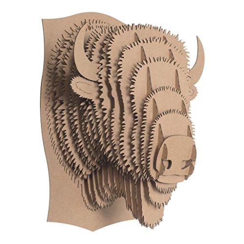 Billy Cardboard Bison Head (Brown, Medium) (Bison Head compare prices)