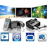 Portable Mini Projector LCD LED Portable HD Home Theater (100 Lumens, 320 — 240, VGA HDMI AV USB SD Manual Focus... - B01ERCN5RG