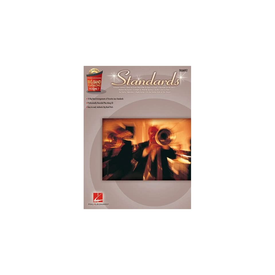 Standards   Trumpet   Big Band Play Along Volume 7   Book & CD Package