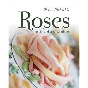 Rosas Di Van Niekerk em seda e fita de organza