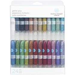 Martha Stewart Crafts Glitter Glue Set, 24 Per Pack