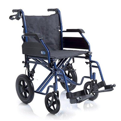 Carrozzina Ardea - Sedia a rotelle pieghevole Moretti doppia crociera da transito - larghezza seduta 45cm