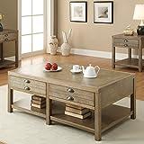 Coaster Home Furnishings Casual Coffee Table, Light Oak