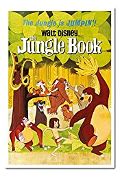 The Jungle Book Classic Walt Disney Poster Magnetic Notice Board White Framed - 96.5 x 66 cms (Approx 38 x 26 inches)