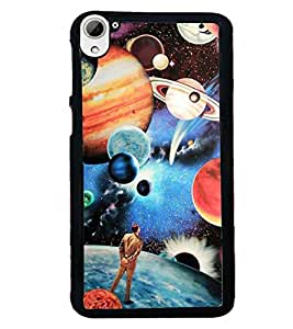 Droit 2D Printed Designer Back Case Cover for HTC Desire826 + 3D F1 Screen Magnifier + 3D Video Screen Amplifier Eyes Protection Enlarged Expander by DROIT Store.