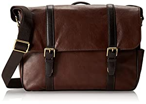 Fossil Men's Estate Saffiano Leather East-West Messenger Bag by Fossil Men's Accessories