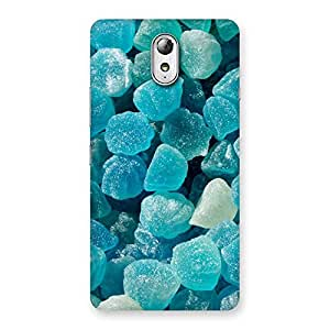 Cute Bluish Gem Print Back Case Cover for Lenovo Vibe P1M