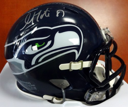 Golden Tate Autographed Seattle Seahawks Speed Mini Helmet in Silver MCS Holo at Amazon.com