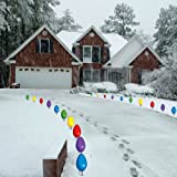 Giant 'Bulb' Pathway Markers - Christmas Yard Sign Decorations - Do Not Light Up