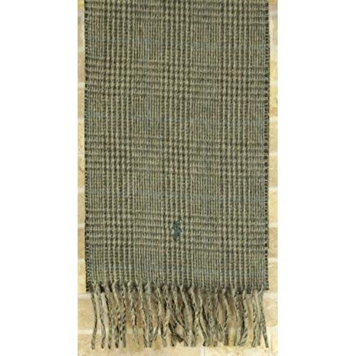 Ralph Laurenプラッド ダブルフェイスド スカーフ イタリア製 マフラー ヘザーグレンプラッド 並行輸入品