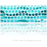 "TopCase Wave Series Silicone Keyboard Cover Skin for New Macbook Air 11"" Model: A1465 + TopCase Mouse Pad (New macbook air 11"" A1465, Aqua Blue)"