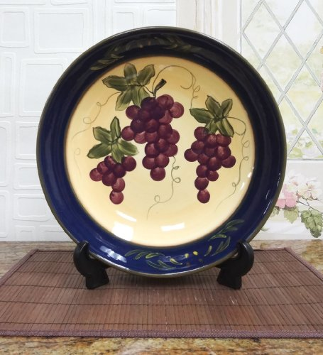 Colorful Grapes Pasta Bowl (Pasta Ceramic compare prices)