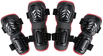 Generic 4pcs Outdoor Sports Knee and Elbow Guards Protective Gear Black
