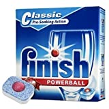 Finish finish 5-in-1 dishwasher powerball tablets box of 15 extra cleaning power to remove encrusted stains for extreme clean (electruepart)