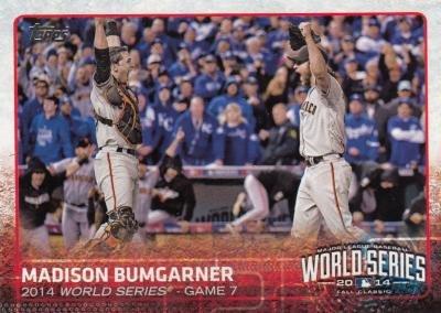 Madison Bumgarner baseball card (San Francisco Giants) 2015 Topps #88 World Series Game 7