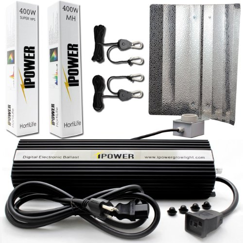 iPower GLSETX400DHMWING 400-Watt Light Digital Dimmable System for Plants