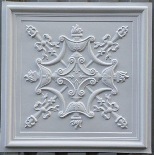 PL07 en similicuir style victorien Carreau de plafond Blanc mat pour décoration en relief photosgraphie Panneaux de fond muraux 10pieces/lot