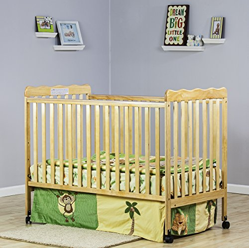 Fantastic Deal! Dream On Me Classic 2 in 1 Convertible Stationary Side Crib, Natural