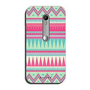 Mozine Pink Tribal Pattern printed mobile back cover for Motorola moto x style