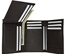New Flip-Up Mens Wallet & Card Holder Trifold BR #239