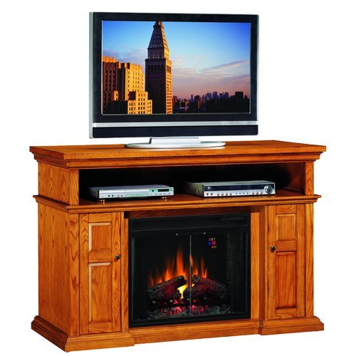 ClassicFlame Pasadena Electric Fireplace Entertainment Center in Premium Oak - 28MM468-O107 image B0064P0WQW.jpg