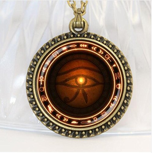 The Eye of Horus necklace Runes of magic necklace Vintage Glass Ornaments (4)