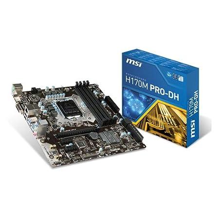 MSI H170M Pro-DH Carte mère Intel Micro ATX Socket 1151