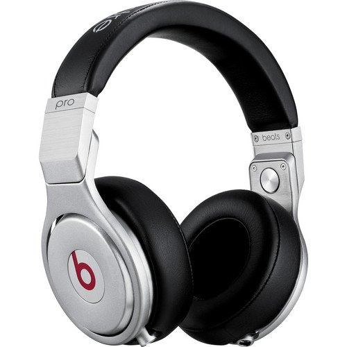 Beats by Dr. Dre Flat Frequency Response Passive Noise Isolation Pro High Performance Over-Ear Studio Headphones (Black)