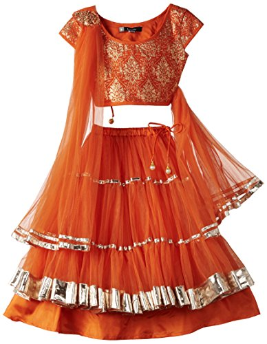 Maya Kidology In-House Collection By Maya Nocon Baby Girl's Lehenga Set (Green)