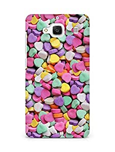 Amez designer printed 3d premium high quality back case cover for Xiaomi Redmi 2 Prime (Love Candies)