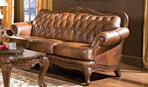 Classic Tri Tone Leather Sofa