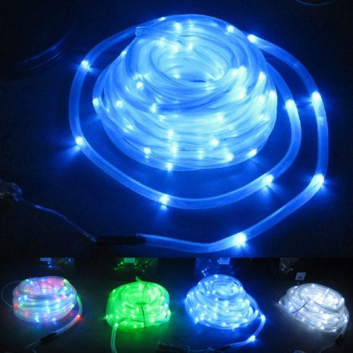 Brand New 100-Led Solar Powered Waterproof Tube String Light - 5 Colors