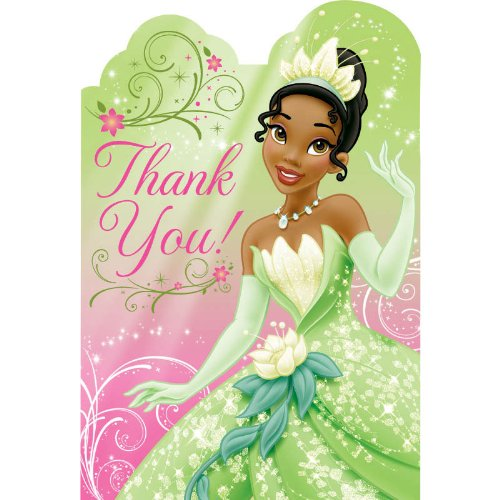 Princess and the Frog Sparkle Thank You Notes