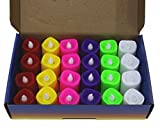 #7: Citra Battery Color Changing Tea Lights, Pack Of 24, 7 Colors