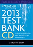 img - for Wiley CPA Exam Review 2013 Test Bank CD, Complete Set book / textbook / text book