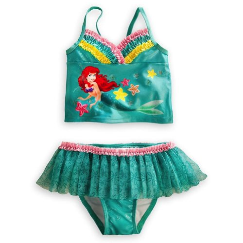 Disney Store Deluxe Ariel The Little Mermaid Tutu Swimsuit Size Large 9 -10