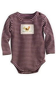 Lula La Newborn Organic Fair Trade Interlock Knit Bodysuit